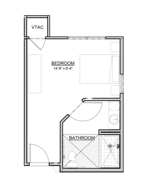 Lily – 1BR / 1BA – 325 Sq. Ft.