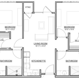 Maple – 2BR / 2BA – 803 Sq. Ft.