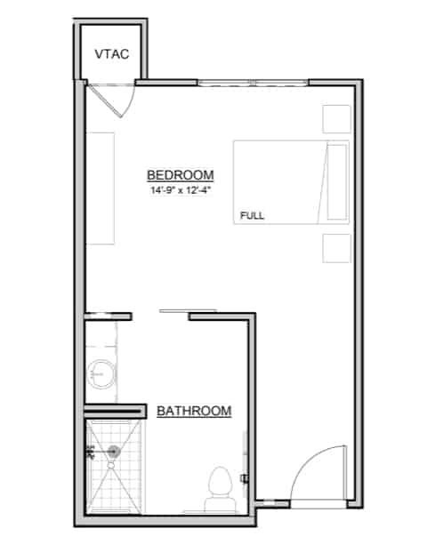 Tulip – Private Studio – 366 Sq. Ft.